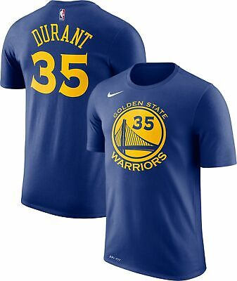 NIKE KEVIN DURANT GOLDEN STATE WARRIORS T SHIRT #35 YOUTH M L DRI FIT