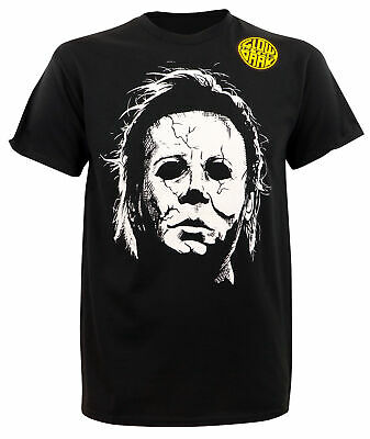 Glow In The Dark Halloween Shirts (Authentic HALLOWEEN Michael Myers Glow In The Dark T-Shirt S-2XL)