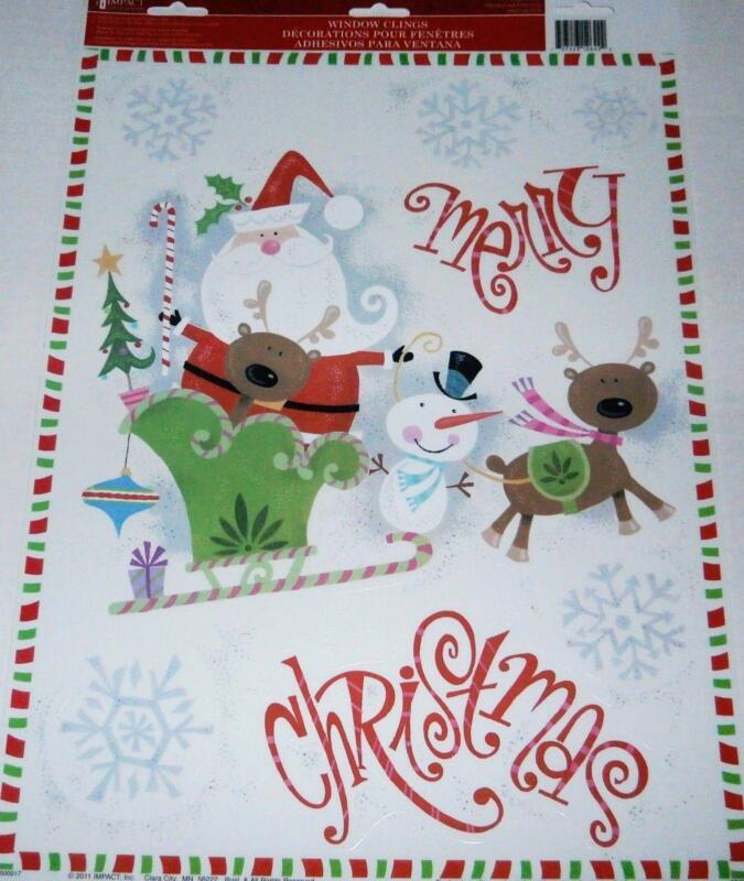 Christmas Window Clings Ebay