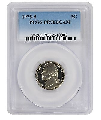 Click now to see the BUY IT NOW Price! 1975 S JEFFERSON NICKEL PR70DCAM PCGS PROOF 70 DEEP CAMEO TOP POP