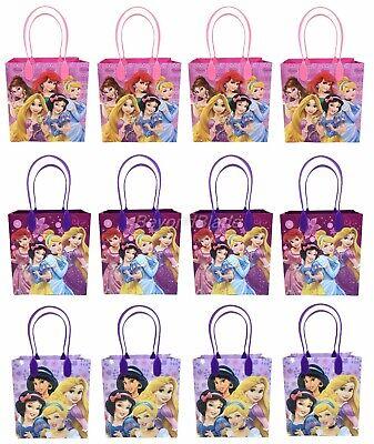 Disney Princess Goody Bag Party Goodie Gift Birthday Candy Bags 12pc - Disney Princess Goodie Bags