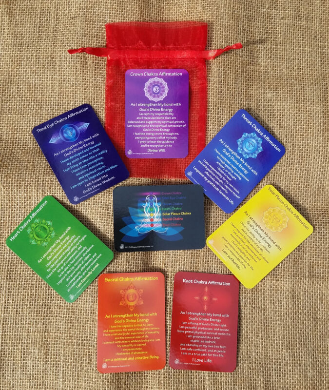 7 Chakra Affirmation Cards with Daily Mantra