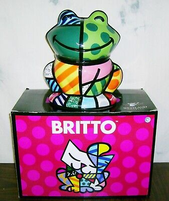 ROMERO BRITTO #22010 FROG Pop Art Cookie Jar Canister Westland Giftware FastShip