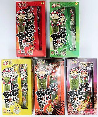 1 Box (9 Rolls) Tao Kae Noi TaoKaeNoi Big Grilled Seaweed Roll 小老板紫菜 FREE SHIP
