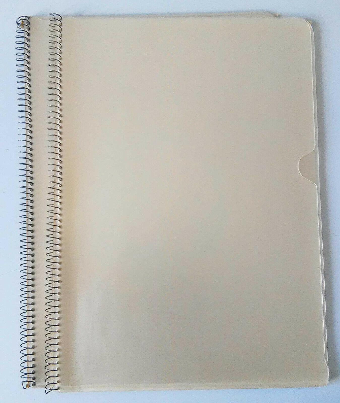 2 Präsentations-/Archiv-/Dokumenten-Mappen A4 je 8 Sichthüllen Spiralbindung ben
