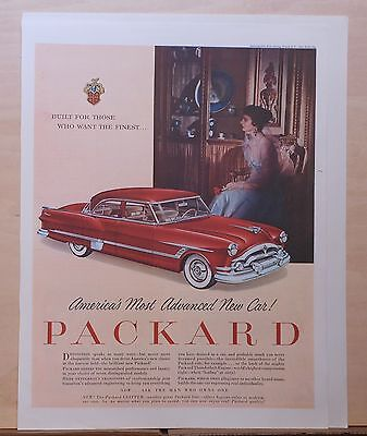 1953 Magazine Ad For Packard    Red Clipper  Americas Most Advanced New Car