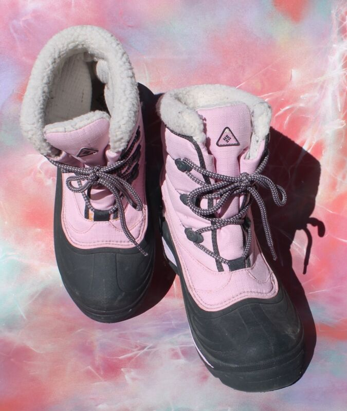 Columbia Black Pink Waterproof Boots, Womens 8
