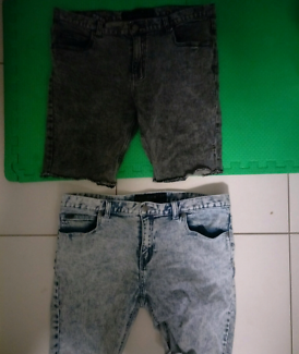2 pairs near new  Mens denim Shorts By Afends Retail $120