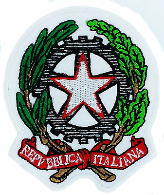 Italian Flag Patches (FLAG PATCH PATCHES ITALIAN ITALY ITALIA coat of arms IRON ON EMBROIDERED EMBLEM)