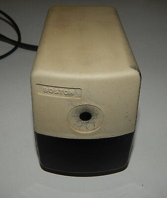 BOSTON Model 19 Beige Electric Pencil Sharpener USA Works Great 296A R18965