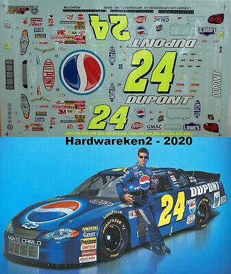 NASCAR DECAL #24 PEPSI -DUPONT 2001 MONTE CARLO JEFF GORDON SLIXX