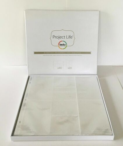 PROJECT LIFE 12x12 Photo Pocket Pages-BIG Variety 60-Pk  scrapbooking 380002