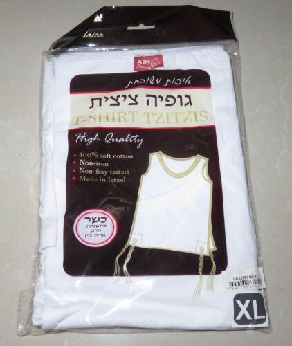 Size XL Kosher T-Shirt Tzitzit Tallis Tallit Katan Shawl 100% Cotton
