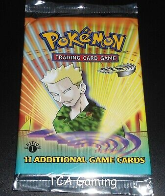 SEALED Gym Heroes 1ST EDITION Booster Pack (Lt. Surge Art) Pokemon Cards - LIGHT