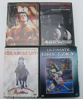 Baby Themed Movies (LOT OF (4) SPORT THEMED DVDs ROCKY GRETZKY MILLION DOLLAR BABY)