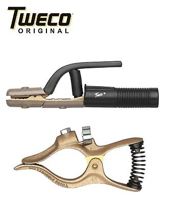 Combo - Genuine Tweco Gc-200 Ground Clamp A-532 Electrode Holder