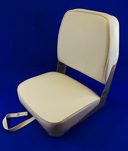 Quality Folding White Boat Helm Seat - Speed Boat Fishing - New US11