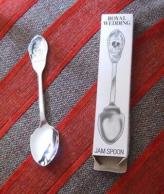 BOXED ROYAL WEDDING SPOON - SHEFFIELD - MILLER     *