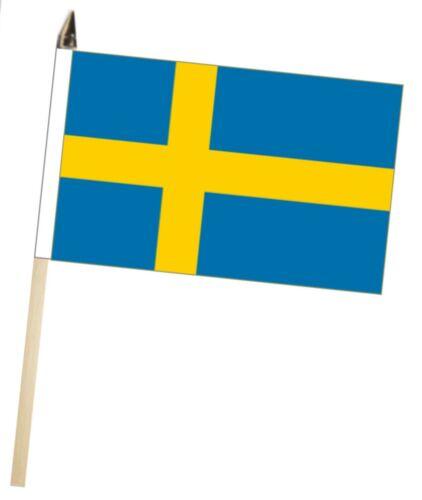 Sweden Large Hand Waving Courtesy Flag