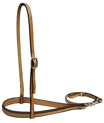 LIGHT OIL American Made Leather Adjustable Noseband and Tiedown! NEW HORSE TACK!