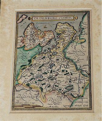 """Oldenburg """"Oldenbvrg comit"""" Original Landkarte Karte Laurentius Ortelius um 1584"""