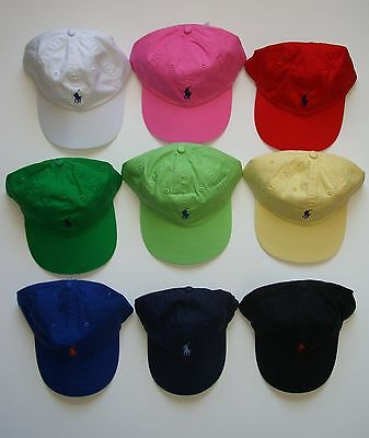 NEW Polo Ralph Lauren Baseball Cap Hat Small Pony Adjustable Strap Asst. (Small Cap Hat)