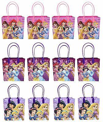 NEW 12x Disney Princess Birthday Party Favor Goody Bags Loot Bags Gift Candy Bag - Disney Princess Goodie Bags