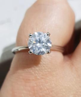 1.51 Carat GIA G Diamond Engagement Ring Round Brilliant Wedding