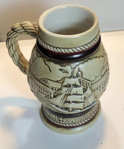 "Vintage Avon Handcrafted ""Tall Ships"" Ceramarte Beer Stein Mug - Mini - #218603"