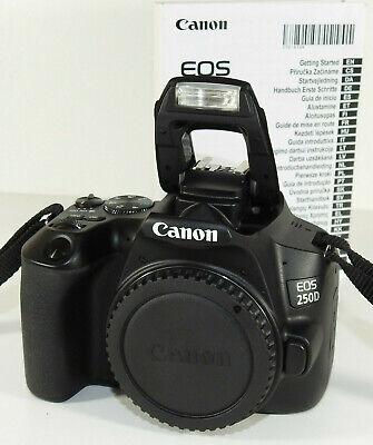 Canon EOS 250D Spiegelreflexkamera 24.1 Megapixel 4K Full HD Body nur Gehäuse *