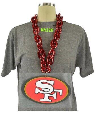 NFL San Francisco 49ers 3D Fan Chain Necklace Foam Magnet (Red Chain)