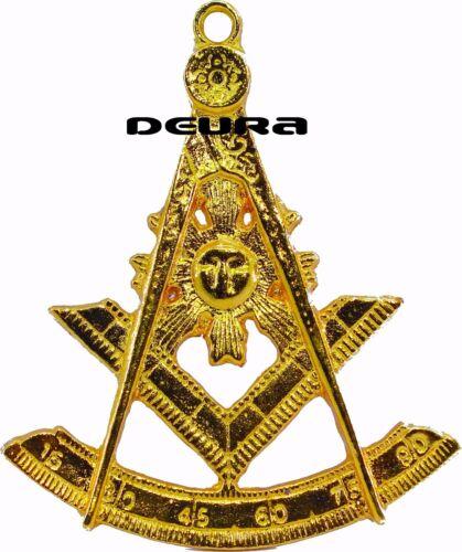 Past Master Jewel Mason Masonic Collar Gold Plated