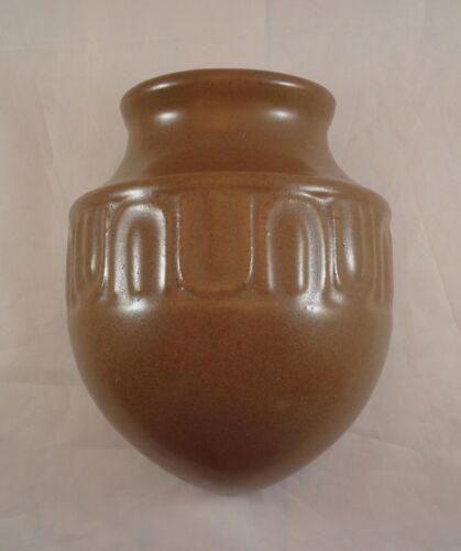Rare Fulper Pottery Brown Arts & Crafts Wall Pocket Shape #481