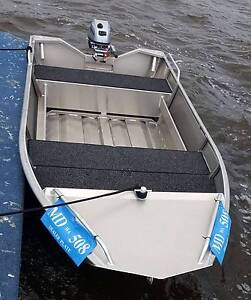 NEW 3.8m aluminium dinghy with trailer and 9.8hp outboard Malaga Swan Area Preview