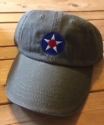 Vintage Army Air Corp  Star  Cap ( Dark Khaki) FREE SHIPPING (Air Corp Star)