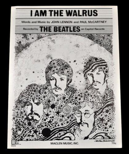 Original 1967 THE BEATLES ~ I AM THE WALRUS ~ Sheet Music Capitol Records Rare