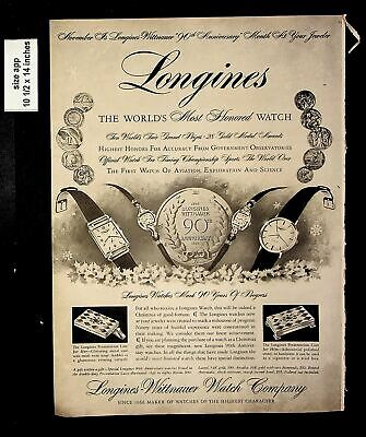 1956 Longines Wittnauer Watch Co Vintage Print ad 8804
