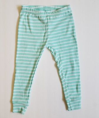 NEW Carter's girls striped pants sz 24 months toddler baby leggings green white