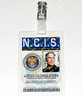 NCIS Leroy Jethro Gibbs Card Special Agent Cosplay Costume Comic Con Halloween](Ncis Halloween Special)
