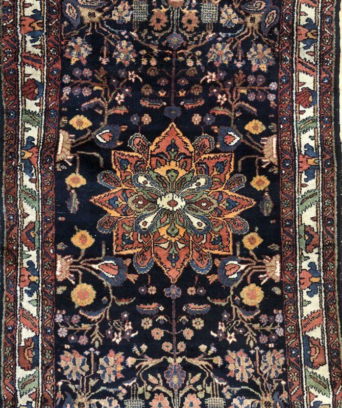 Terrific Tribal - 1920s Antique Oriental Rug - Nomadic Carpet - 4.1 X 6.5 Ft.