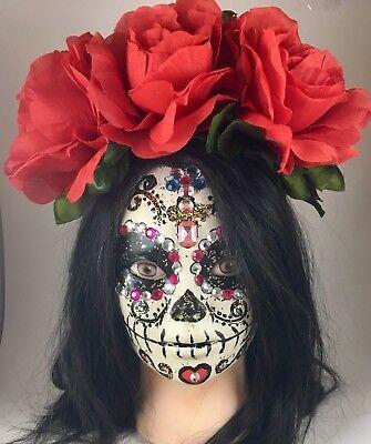 Frida Kahlo Flower Headband (Day of the Dead Multicolor Flower Headband - Frida Kahlo)