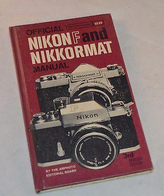 Винтажные книги OFFICIAL NIKON F &