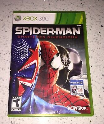 Spider-Man: Shattered Dimensions  (Xbox 360, 2010) w/ Case & Manual!