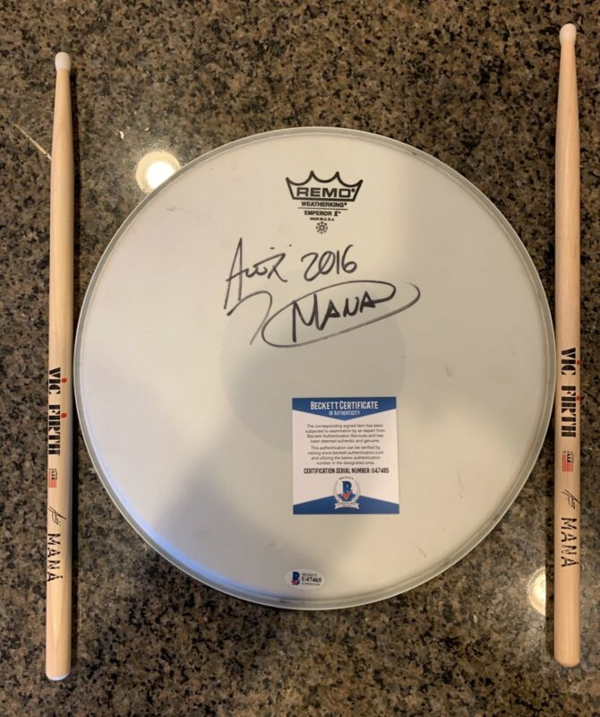 """Alex Gonzalez MANA """"Animal"""" Signed/Autographed  Stage Used Drumhead BGS"""