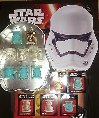 Full Set 8 Abatons Star Wars Tin + Glow In The Dark...