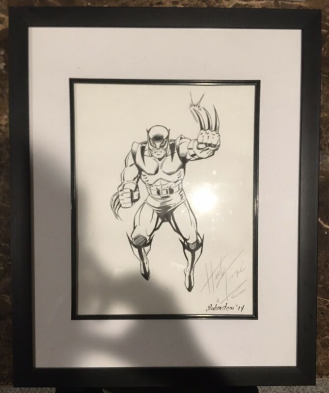 Herb Trimpe & Joe Rubinstein Original Sketch Wolverine 11 X 17 Framed