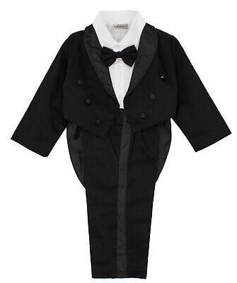 Stylesilove Toddler Baby Boy Black & White Tuxedo Formal Wedding 3pcs Outfit](Baby Outfit Wedding)