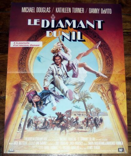 THE JEWEL OF THE NiLE Michael Douglas 1980s Kathleen Turner SMALL french POSTER