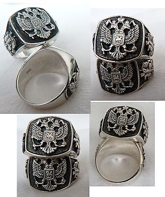 Russische Adler Russland  Russia Hl.Georg  Ring Silber 925