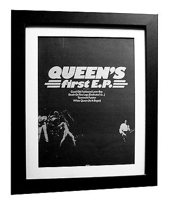 QUEEN+Fashioned Lover Boy+POSTER+AD+RARE ORIGINAL 1977+FRAMED+FAST GLOBAL SHIP